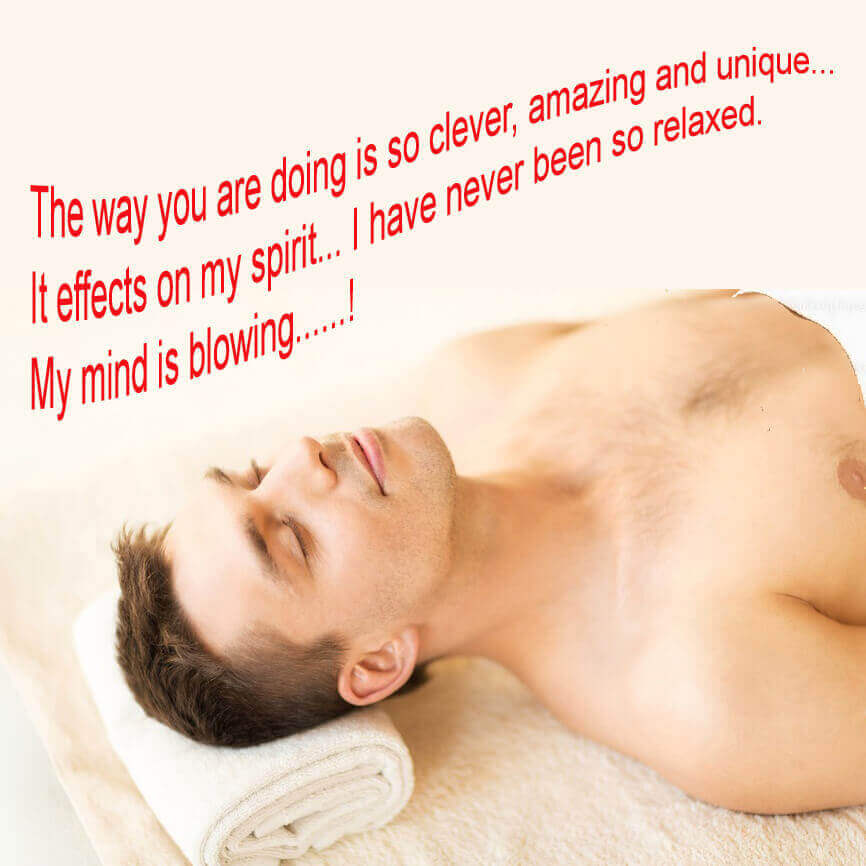 Man Enjoys Body Massage in Singapore by Maya Wang